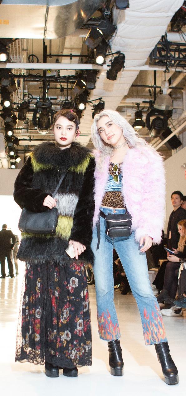 Japanese Bloggers Alisa Ueno on the right and Tomoco Nozaki on the left  photographed by Larisa Karamchakova.