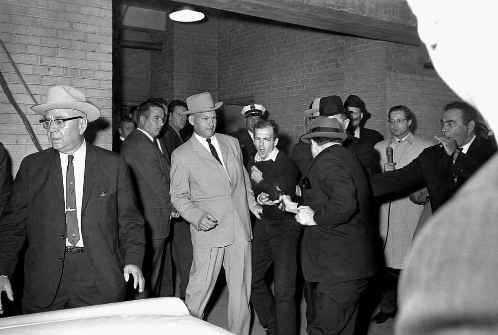 Pulitzer Prize winning photograph of Lee Harvey Oswald getting shot by Jack Ruby., November 24 1963  © Bob Jackson.