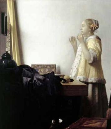 oung Woman with Pearls , 1663-1664, Oil on canvas. 51.2 x 45.1 cm. Berlin, Staatliche Museen zu Berlin, Preußischer Kulturbesitz, Gemäldegalerie © BPK, Berlin, Dist. RMN-Grand Palais Jörg P. Anders