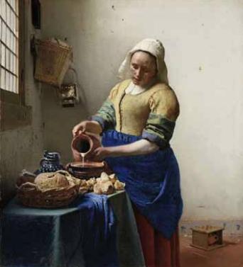 The Milkmaid , ca. 1657-1658. Oil on canvas. 45.5 x 41 cm. Amsterdam, Rijksmuseum © Amsterdam, The Rijksmuseum