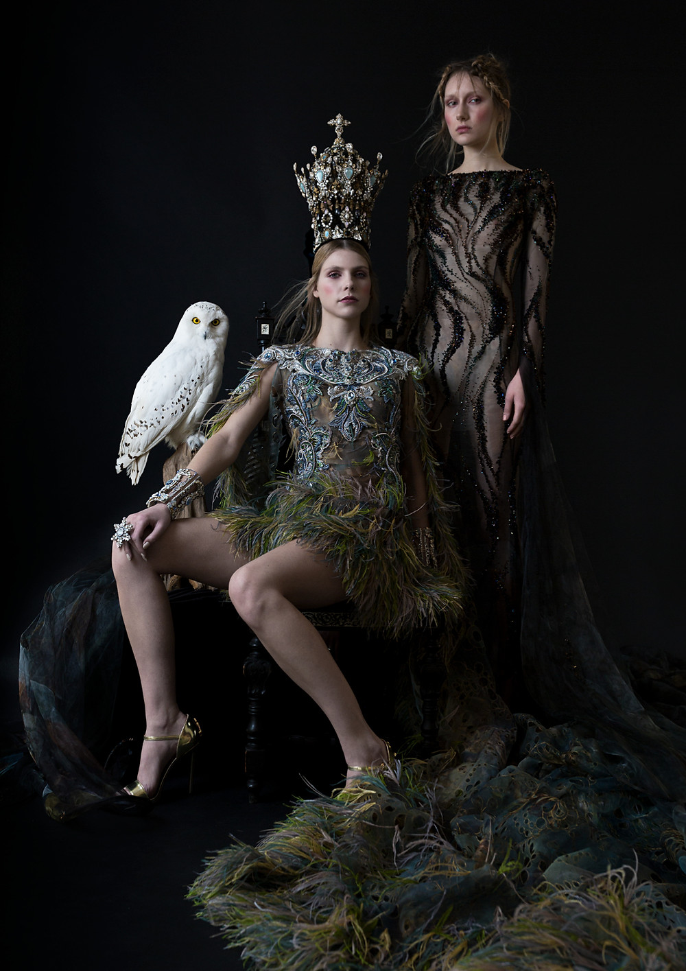 Photograph by French Cowboy for IRK' Garden of Eden issue 6 featuring gowns by Guo Pei