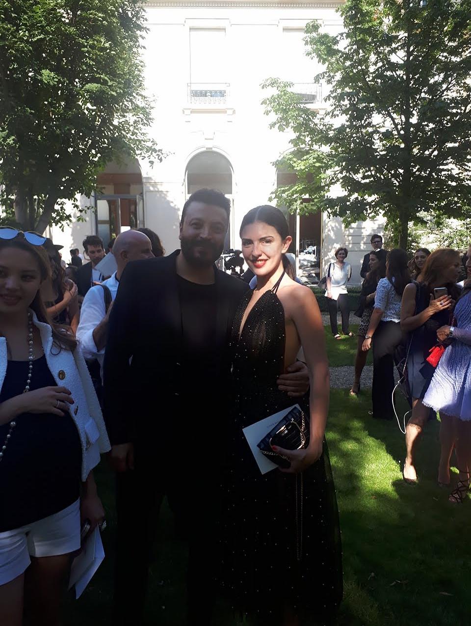 Sofia Alurralde  with the designer Zuhair Murad