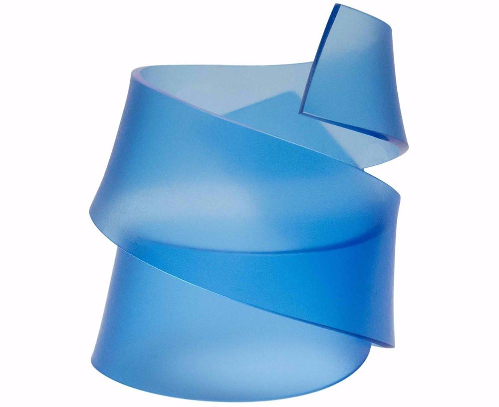 Blue Acrylic RIBBON SCULPTURE BRACELET