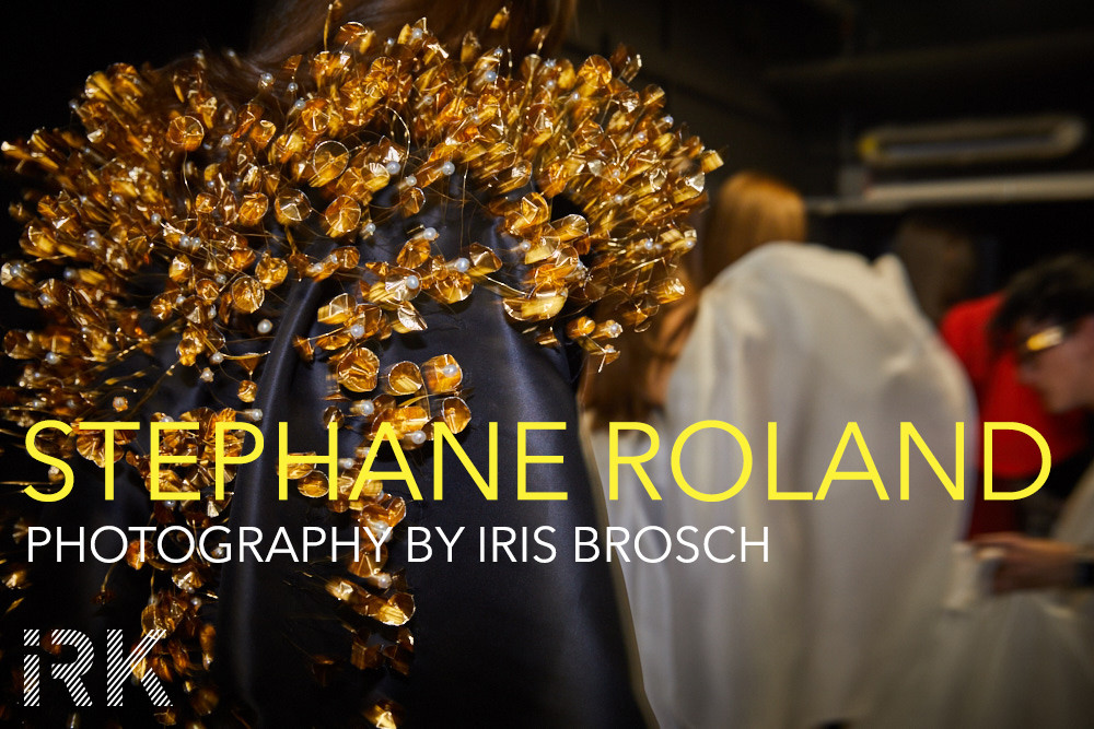 Stephane Rolland, Fall/Winter 2017 - Haute Couture, Backstage with Iris Brosch