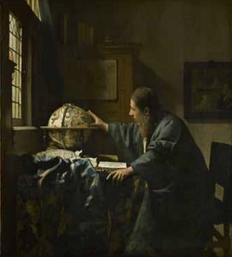 The Astronomer , 1668. Oil on canvas. 51.5 x 45.5 cm. Paris, musée du Louvre, département des Peintures © RMN-Grand Palais (musée du Louvre) / Franck Raux