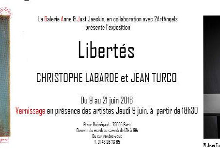"""Exhibition """"Libertés"""" by Jean Turco andChristophe Labarde"""