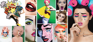 POP makeup ideas for Halloween from our Let it POP mood board on pinterest.