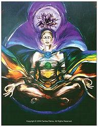 Fanitsa Petrou Art. The seven chakras. the 7 chacras. spiritual art by Fanitsa Petrou. www.fanitsa-petrou.com