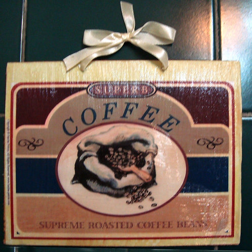 """Coffee"", wooden sign"