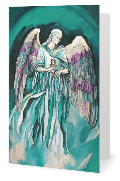 """""""Archangel Raphael"""" card - Greek"""