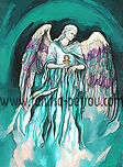 Fanitsa Petrou Art. angel gifts, angel art, angel paintings, the seven archangels, Archangel Raphael painting, by Fanitsa Petrou. www.fanitsa-petrou.com