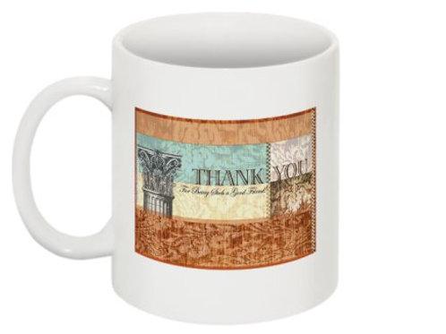 """""""Thank you"""" mug"""
