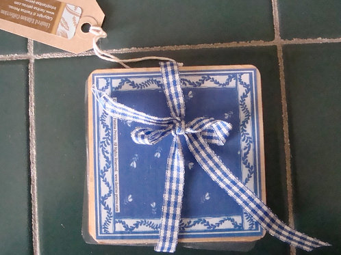 Blue & White Coasters, I