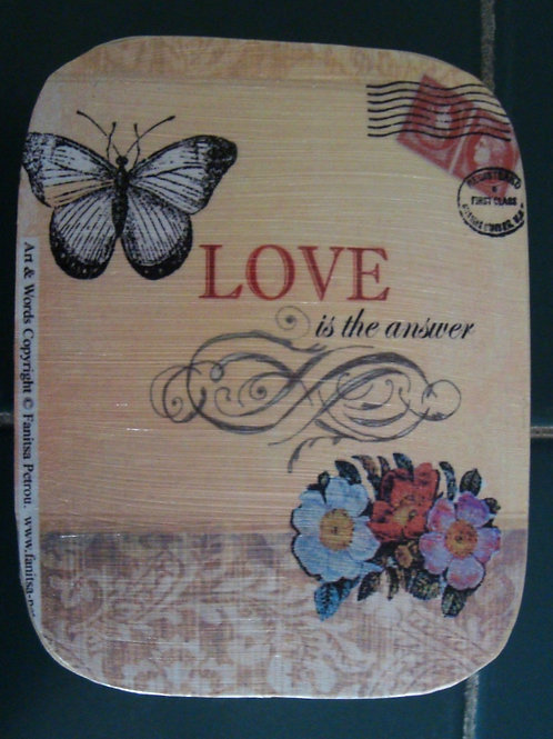 """""""Love is the answer"""" small box"""