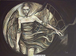 Fanitsa Petrou Art. Fantasy Art, dark, moody, Goth, gothic, surreal Art.