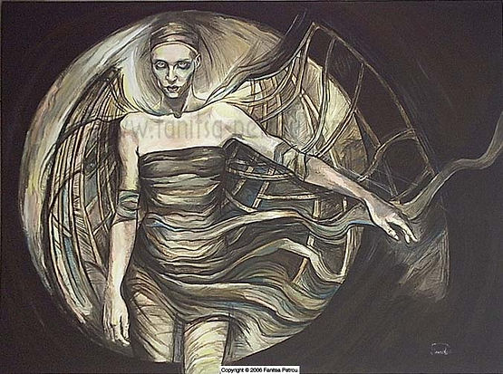 Fanitsa Petrou Art, Fantasy Art by Fanitsa Petrou, Gothic art, woman with wings, www.fanitsa-petrou.com, art by Fanitsa Petrou,