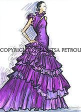 Fanitsa Petrou Art, fashion illustrations, Fashion illustration by Fanitsa Petrou, www.fanitsa-petrou.com