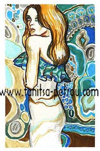 Fashion illustration - Turquoise