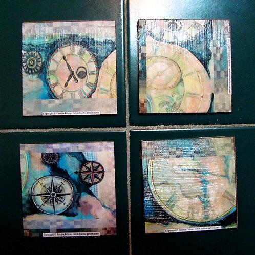 Clocks & Compasses Coasters, III