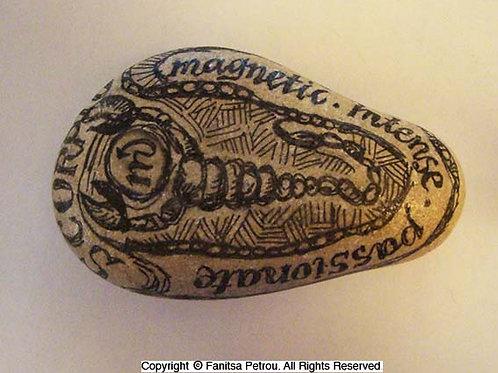 Scorpio 5 - Hand painted Zodiac Stone