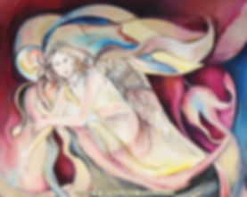 Fanitsa Petrou Art, Angel Art, Angels, Angel painting, Angel illustration, Canvas