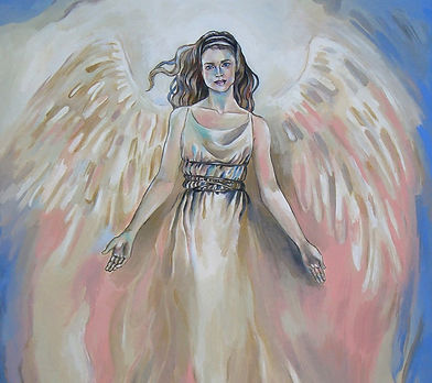 Fanitsa Petrou Art. Angel art. Romantic Angel painting. Realistic art, Fantasy Art, Angel Art, Angels, Angel painting, Traditional art by Fanitsa Petrou. www.fanitsa-petrou.com