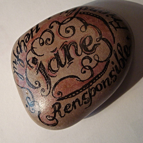 """Jane""- Hand painted Name Stone"
