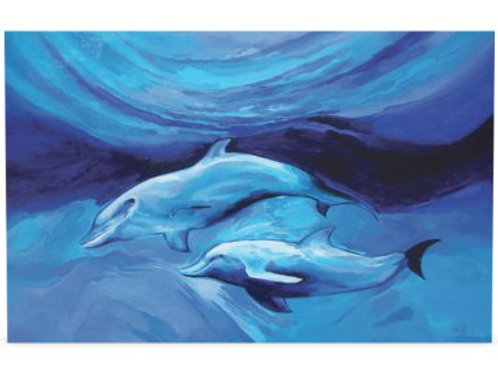 """Two dolphins"" card"