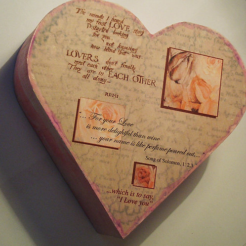 Two heart shaped boxes