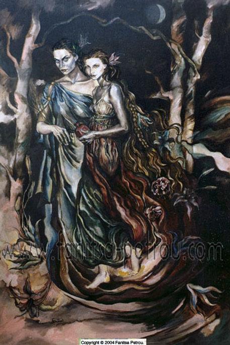 """Demeter & Persephone"" card"