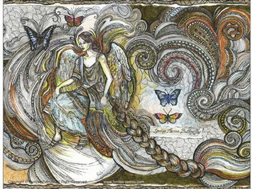 """""""Butterfly fairy, II"""" card"""
