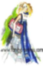 Fanitsa Petrou Art, fashion illustrations, fashion ads, fashion designs by Fanitsa Petrou.