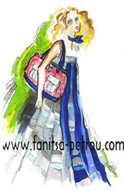 Fanitsa Petrou Art, fashion illustrations, fashion ads, fashion designs by Fanitsa Petrou.