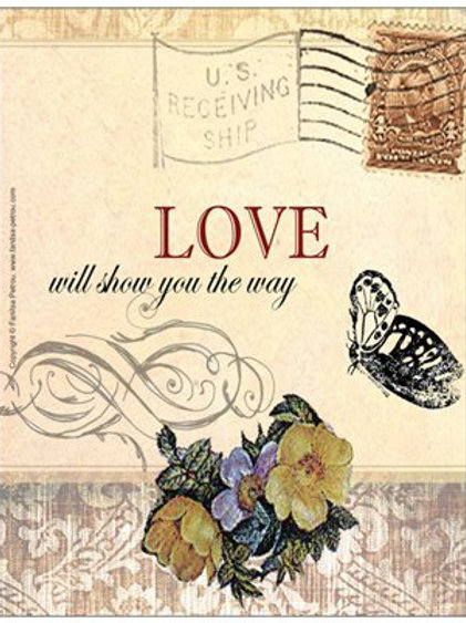 """""""Love will show you the way"""", 2 card"""