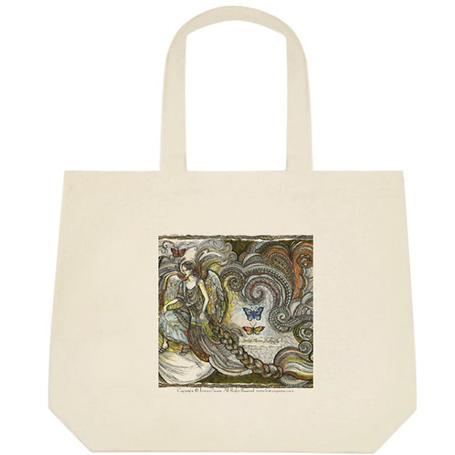 """Butterfly fairy, 2"" tote bag / big"