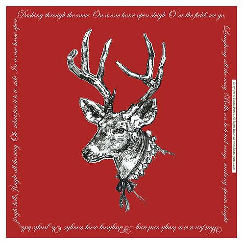 """""""Red reindeer"""" card"""
