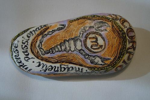Scorpio 2 - Hand painted Zodiac Stone
