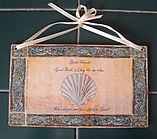 Fanitsa Petrou Art. wooden sign, wooden signs with messages, shell, quotes about the sea, Affortable Art - Decorative Objects for the Home& Garden, illustration by Fanitsa Petrou, www.fanitsa-petrou.com
