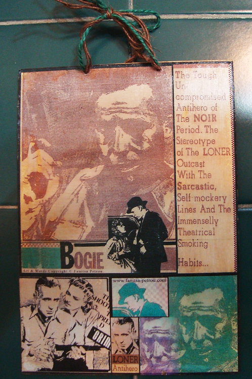 """Bogie, 1"", wooden sign."