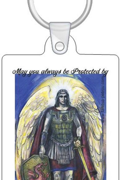 Archangel Michael keyring
