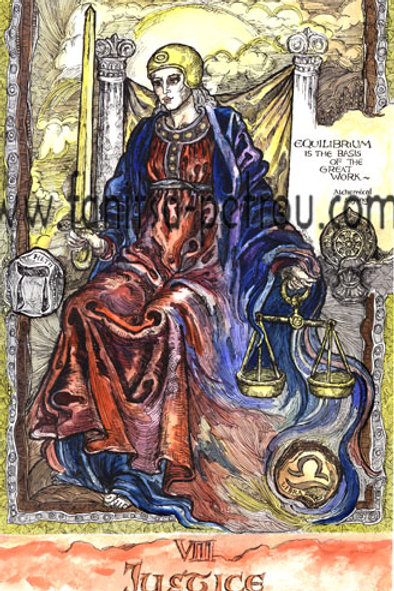 Tarot Cards - Justice