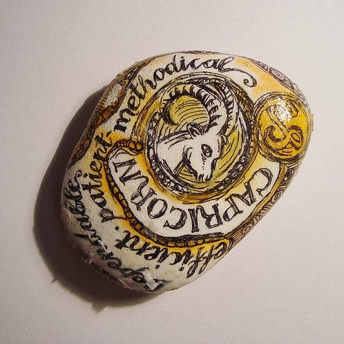 Capricorn - Hand painted Zodiac Stone