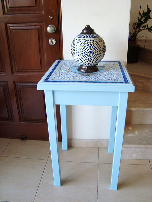 """Blessings to Your Home""- Blue table"