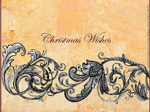 """Christmas wishes"" card / big"