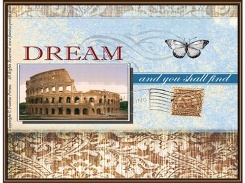 """Dream and you shall find"" card (Rome)"