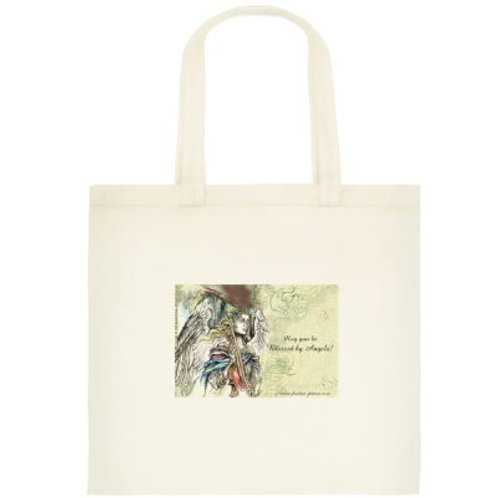 """Angel with violin"" tote bag /small, 2"