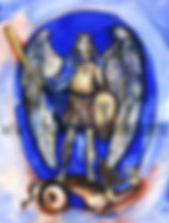 Fanitsa Petrou Art. Artwork with Angels. Angel Art. Gift for people who love Angels. The seven Archangels. Archangel Michael. Archangel Gabriel.