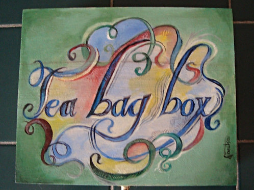 Hand Painted Tea Bag Box
