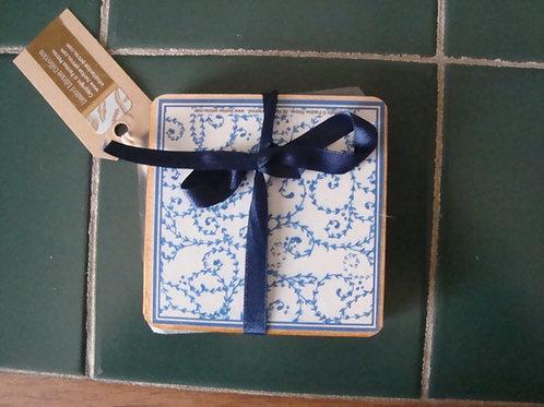 Blue & White Coasters, III