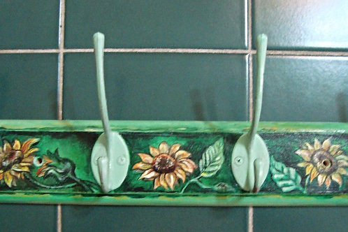 Hand painted hanger - Sunflowers